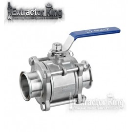 3pcs Triclamp ball valve