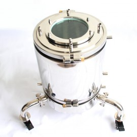 "12"" Jacketed Recovery Base w/Jacketed Platter, Wheels & Sight Glass"