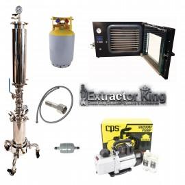 1.2LB Turn Key Closed Loop Extractor Setup w/ Dewaxing Sleeve, Vacuum Oven & Pump