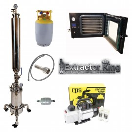2.5LB Turn Key Closed Loop Extractor Setup w/ Vacuum Oven, Pump & Fully Jacketed Platter W/Wheels