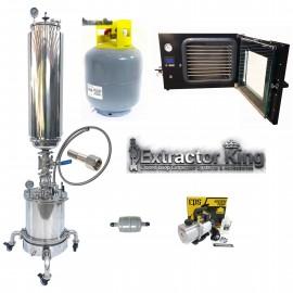 10LB Turn Key Closed Loop Extractor Setup w/ Vacuum Oven & Pumps